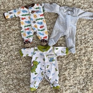 Other - Lot of 3 Baby Boy Premie footsies